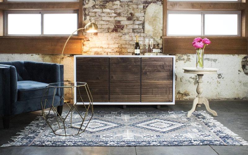 Brock wine fridge by Sommi Wine Cellars impersonates a wood cabinet