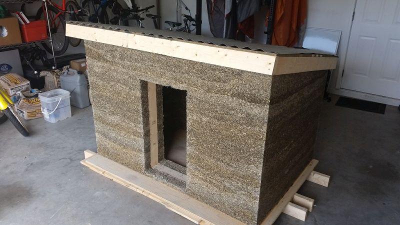CFCC student builds sustainable doghouse from versatile hempcrete