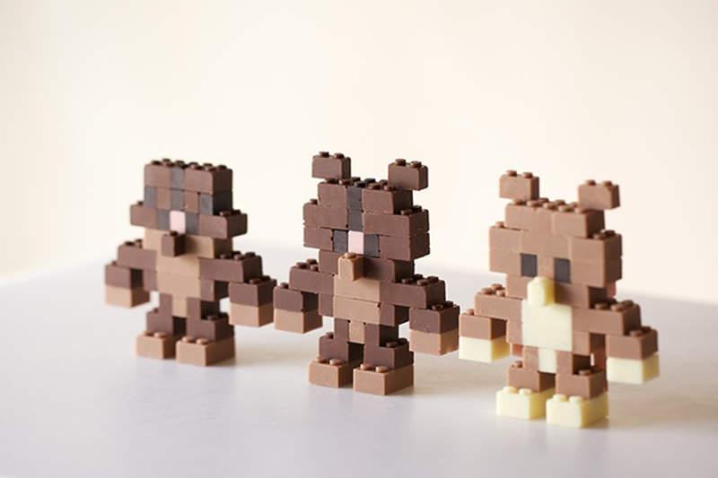 Chocolate Lego brick