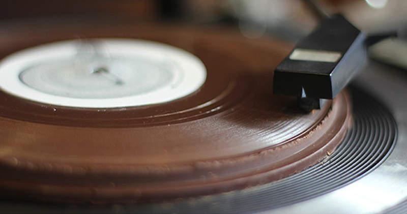Chocolate vinyl record