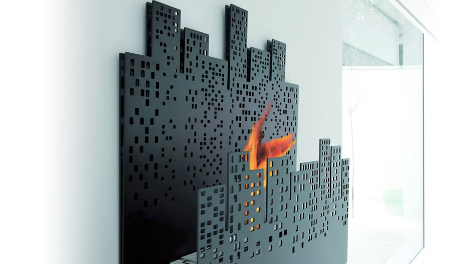 Cirtyscape Fireplace