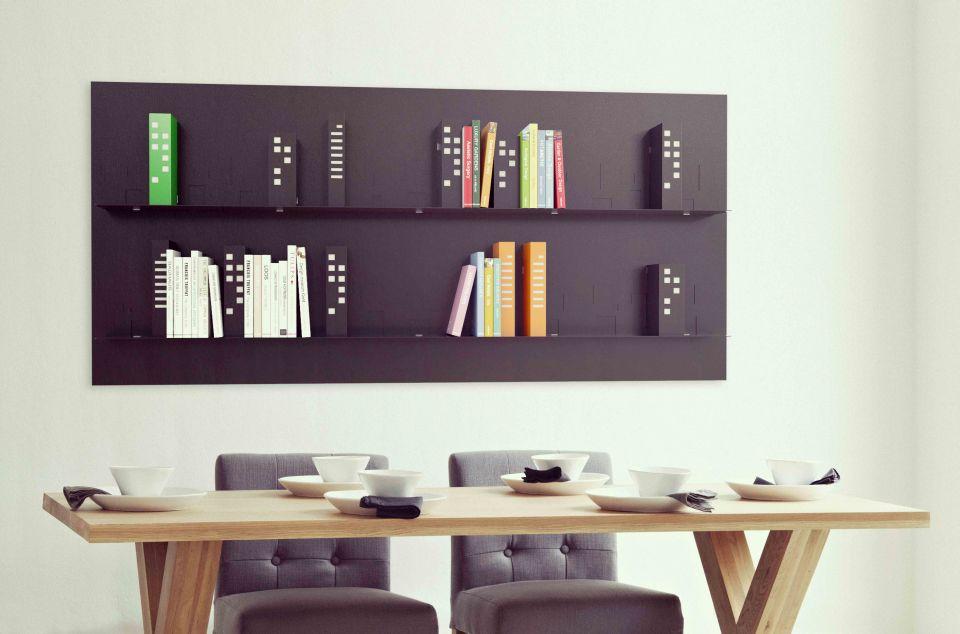 Cityscape bookshelf