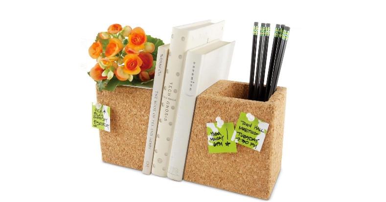 Cork Planter Bookends