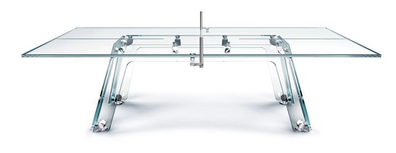 Crystal Ping Pong Table by Adriano Design