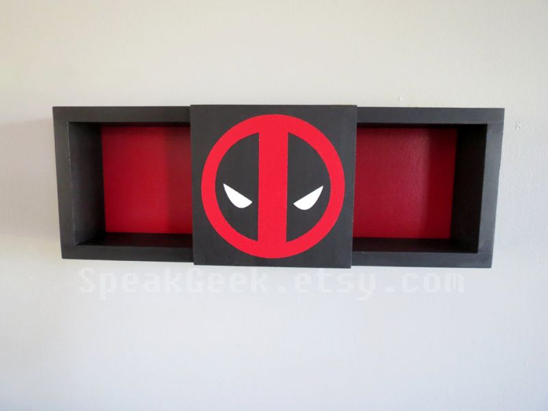Deadpool Shadow Box Bookshelf
