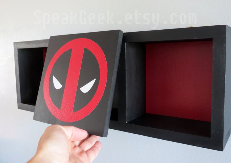 Deadpool Shadow Box Bookshelf