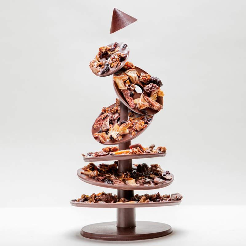Flat pack chocolate Christmas tree