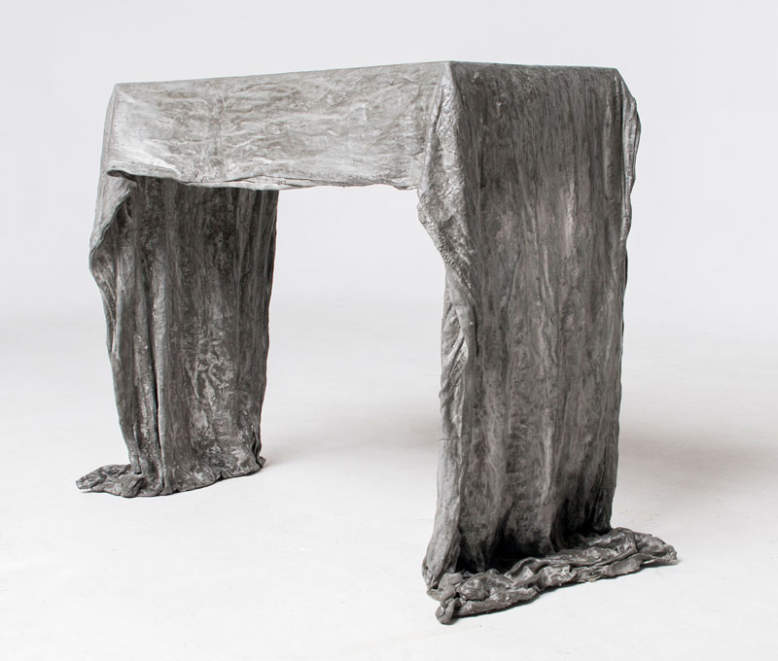 Ghost table by Joey Eddington is made out of one bag of concrete