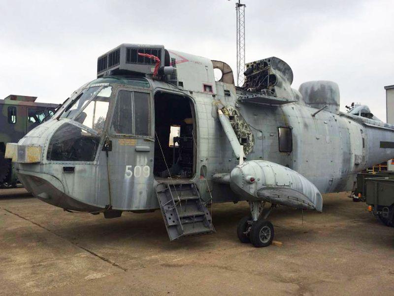 Royal Navy ZA127 Sea King Helicopter