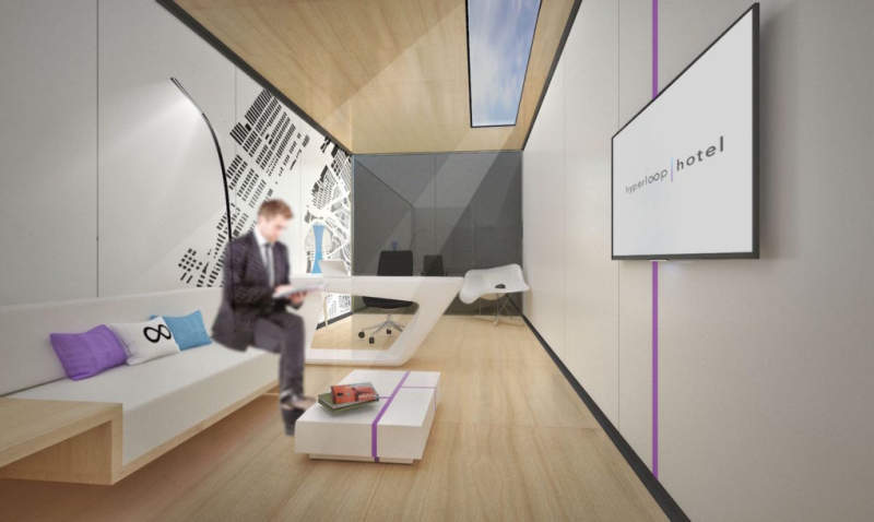 Hyperloop Hotel would let guests quickly move between cities without leaving their room
