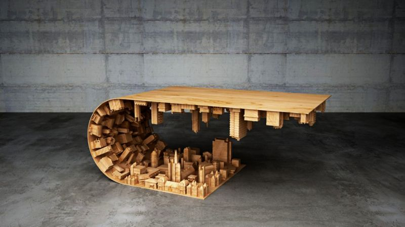 Inception-Inspired Cityscape Coffee Table by Stelios Mousarris