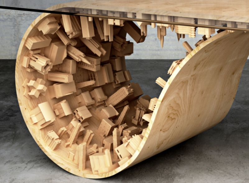 Inception-Inspired Cityscape Dining Table by Stelios Mousarris