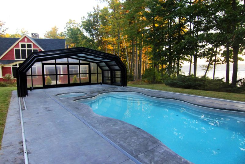 Libart S Retractable Swimming Pool Roof For A House In