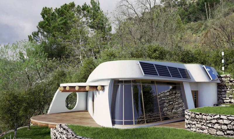 This self-sufficient house is designed to reduce carbon footprint