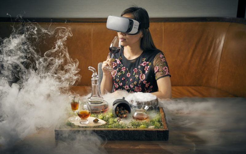Macallan Rare Journey cocktail combined with virtual reality is a unique experience
