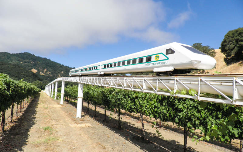 Man builds prototype of atmospheric transportation system in his vineyard