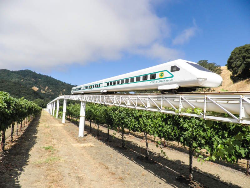 Man builds prototype of atmospheric transportation system at his vineyard