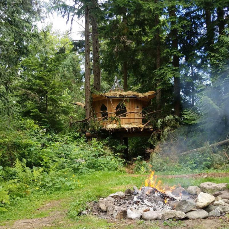 Mountain Views B&B Retreat in Monroe offers pot-friendly treehouses