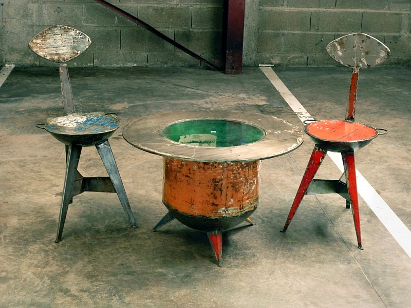 Oil drum table bar Dorobara by Dapoya Design