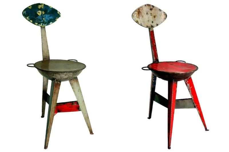 Oil drum bar chair by Dapoya Design