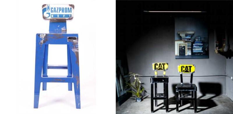 Oil drum table by Vibrazioni Art Design
