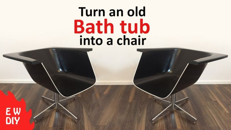 Old bathtub into chair