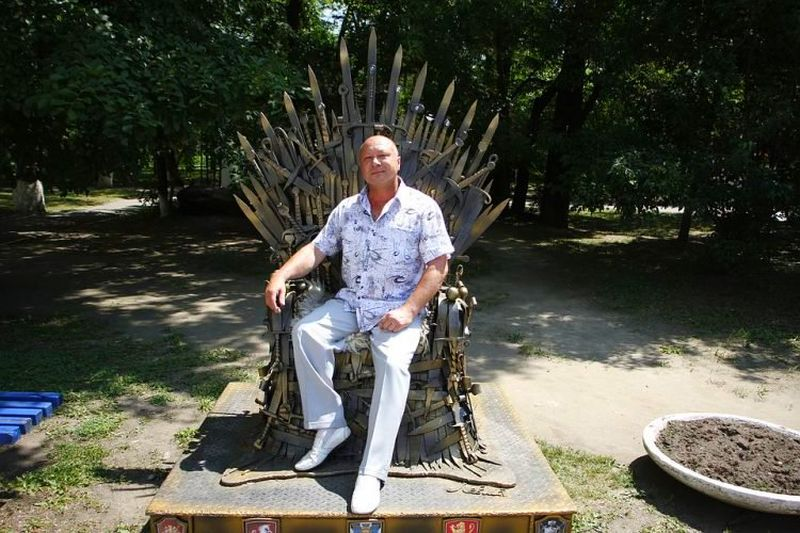 Iron Throne made from real swords