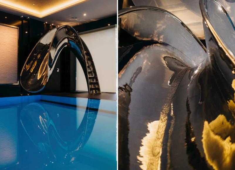 SplinterWorks' sculptural pool slides bring unlimited fun to your home
