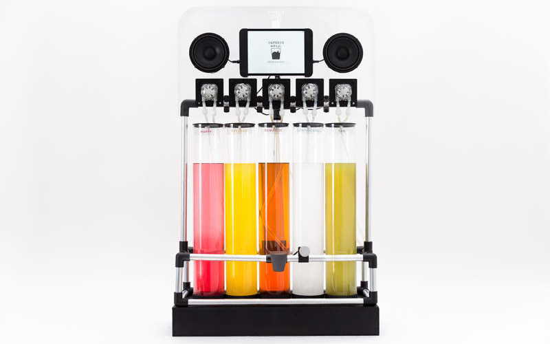 Squeeze Music juicer blends your favorite music into flavored drinks
