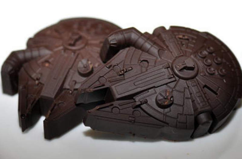 Millennium Falcon chocolate