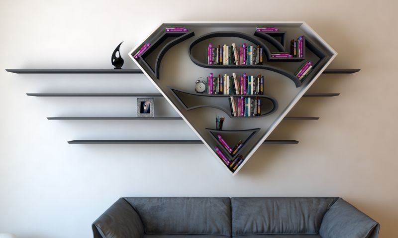 Superman Book Shelf