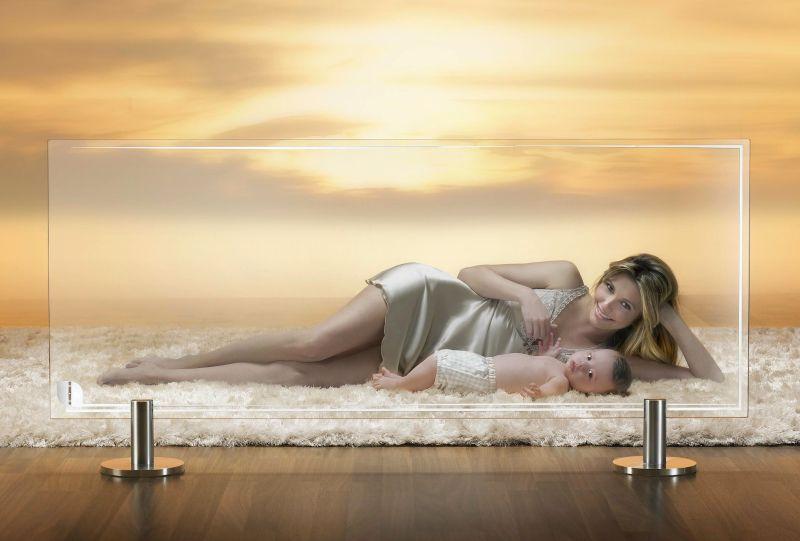 Thermoglance Floor-Standing Radiator by Asola Vetro