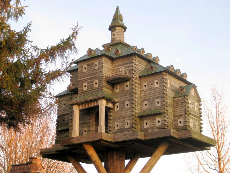 These Luxury Birdhouses Feature Fly Through Tunnels And