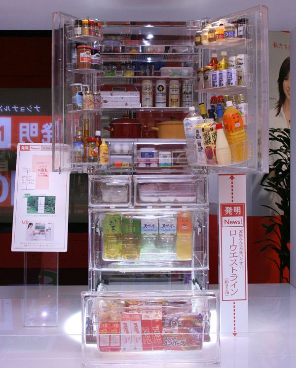Transparent refrigerator and washing machine