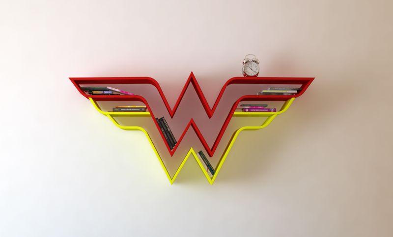 Wonder Woman shelf