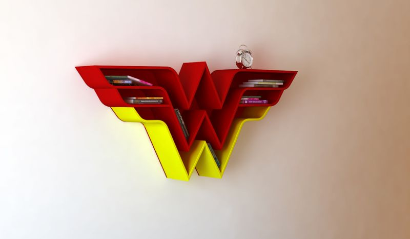 Wonder Woman shelf