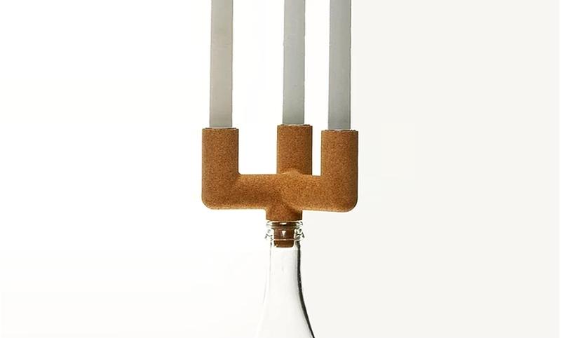 cork candle holder