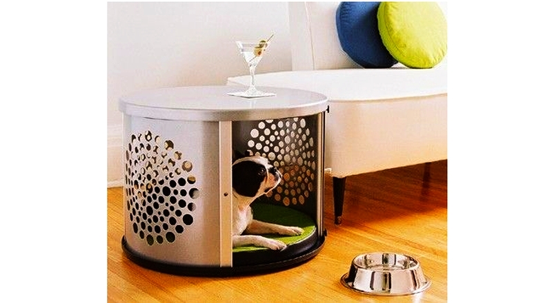 Compact Sy And Cool This Doghouse Is Made Of An Old Washing Machine Drum Innovative Isn T It