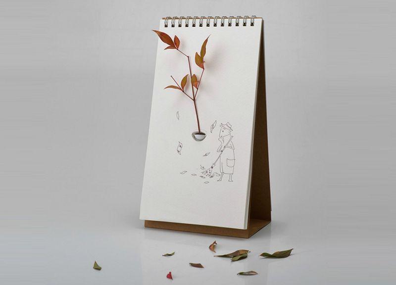 tabletop flip vase on paper