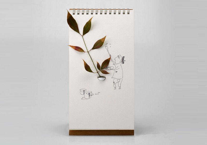 The tabletop flip vase by Lufdesign