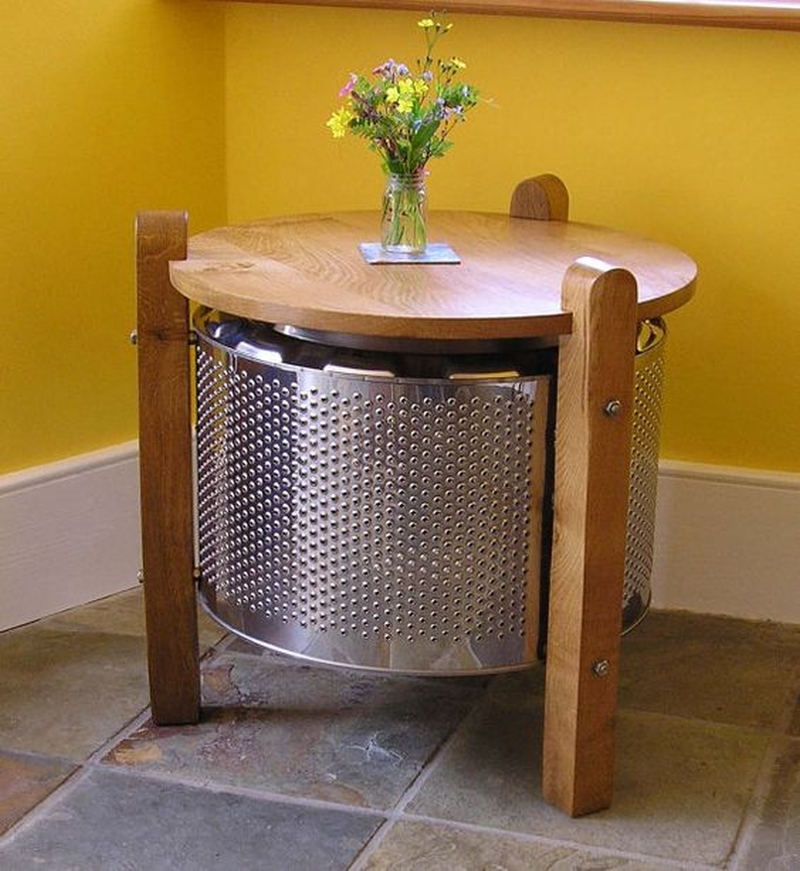 Washing Machine Drum Turned Into Beautiful Furniture. The Idea Sounds A  Little Crazy But You Will Appreciate After Watching The Final Outcome, ...