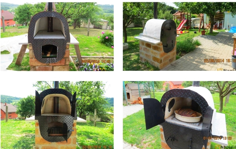 Bathtub into outdoor pizza oven