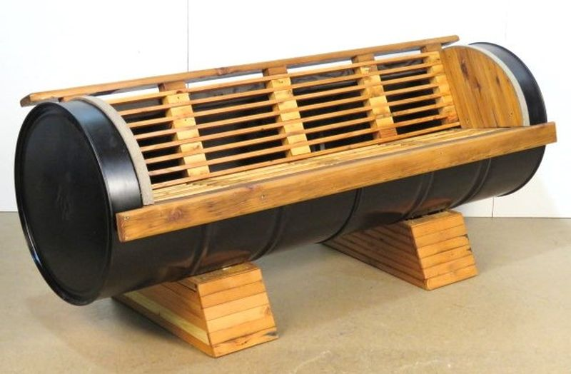 how to make steel drum furniture