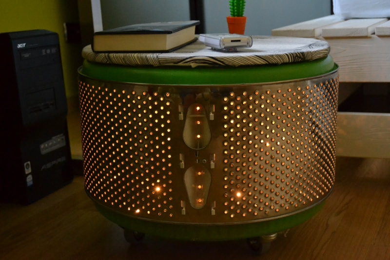 Creative ideas to recycle washing machine drum into for Cestello lavatrice