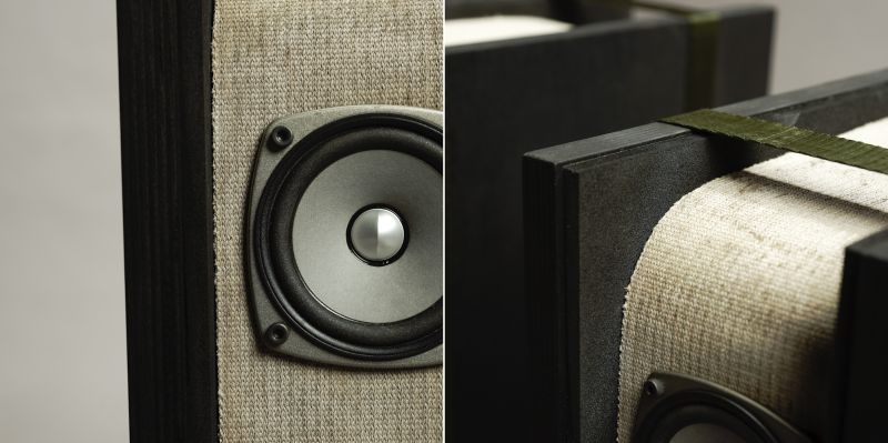 Speaker made of concrete cloth