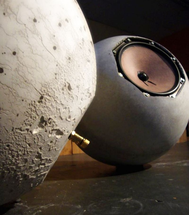 Neaberklok's Spherical Concrete Speakers
