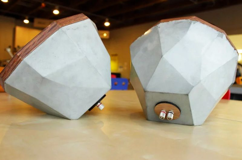 Concrete speaker by The Maker Age