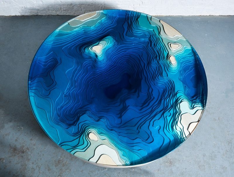 Abyss horizon lagoon table by Duffy London