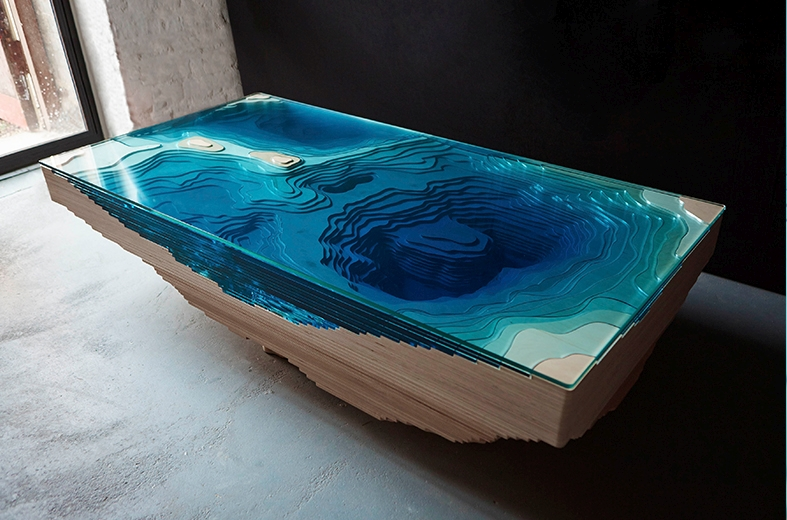 Abyss lagoon table by Duffy London