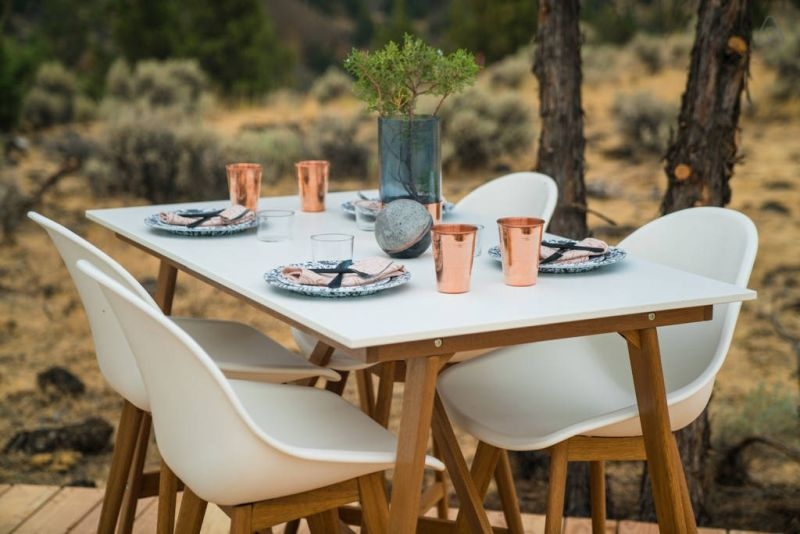 Airbnb dome's porch